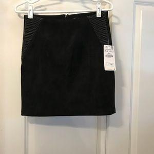 New Zara faux suede skirt